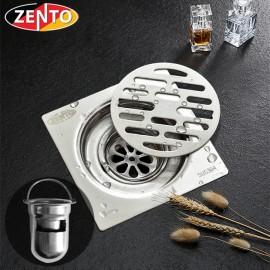 Phễu thoát sàn chống mùi inox304 TS109-304 (98x98mm)