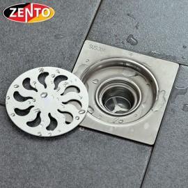 Phễu thoát sàn chống mùi inox304 Zento TS322 (120x120mm)