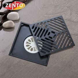 Thoát sàn chống mùi Black series  Zento ZT678-1B (150x150mm)