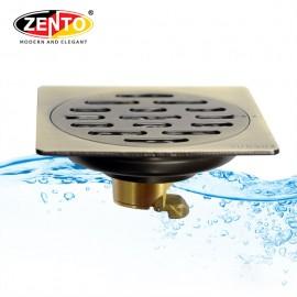 Thoát sàn chống mùi & côn trùng inox Zento ZT542-1L (100x100mm)