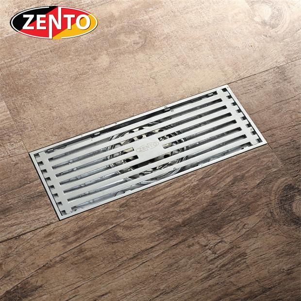 Phễu thu nước thoát sàn chống mùi hôi Zento ZT547-Silver (83x200mm)